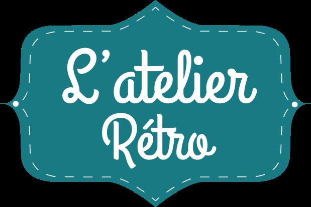 logo vintage l'atelier rétro