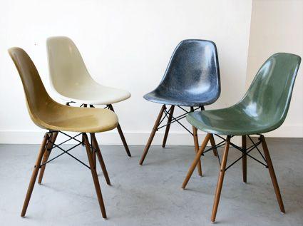Icone du vintage 1 the fiberglass chair eames l 39 atelier r tro - Eames fibre de verre ...