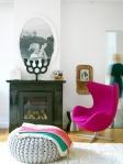fauteuil oeuf arne jacobsen design vintage