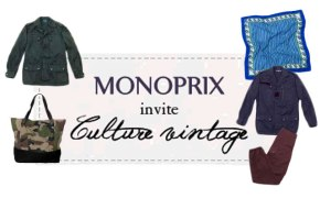 monoprix lance une collection de vêtements vintage avec culture vintage