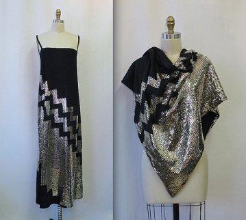 robe disco noire vintage