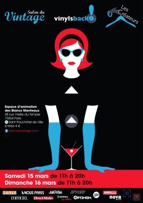 affiche salon du vintage 15 et 16 mars 2014