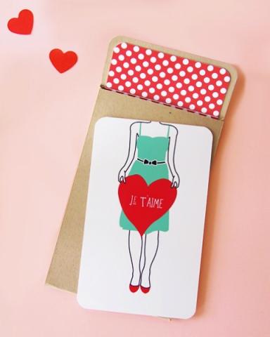 créer sa carte de sa valentin DIY