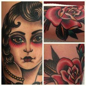 tatouage old school gitane