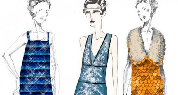 croquis de robe prada sytle années 20